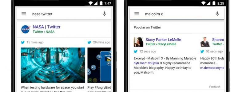 Google Integrates Tweets Directly To Its Search Results On Mobile