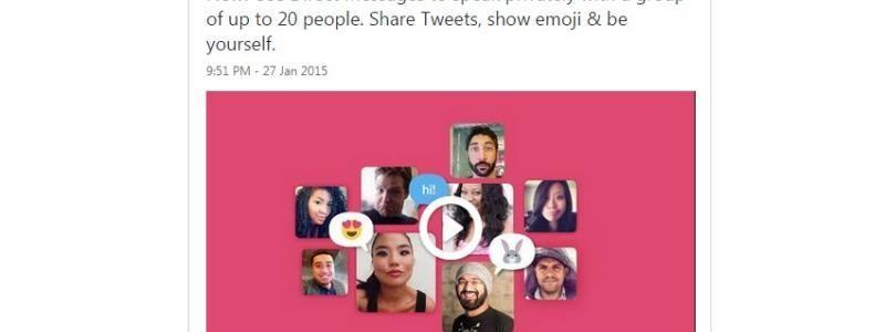 Twitter Now Has Group Direct Messages, Mobile Video Capture, Editing Capabilities